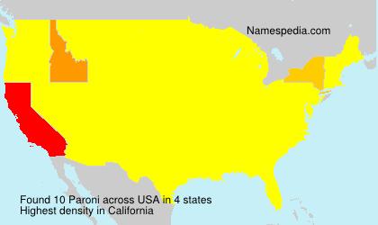Familiennamen Paroni - USA