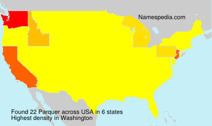 Familiennamen Parquer - USA