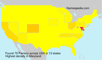Familiennamen Parreco - USA