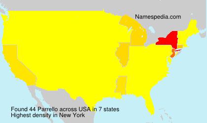 Surname Parrello in USA