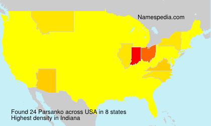 Surname Parsanko in USA
