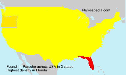 Surname Parsche in USA