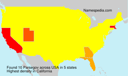 Surname Parsegov in USA