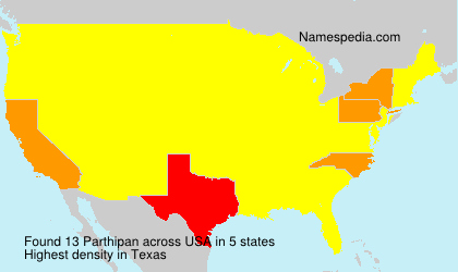 Surname Parthipan in USA
