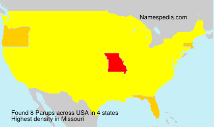 Surname Parups in USA