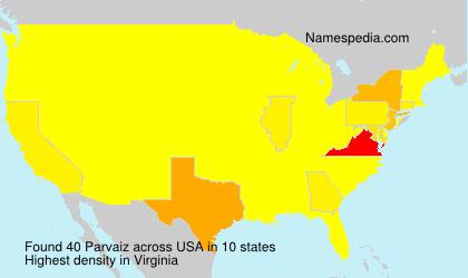 Familiennamen Parvaiz - USA