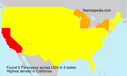 Surname Parvinpour in USA