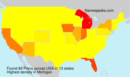 Surname Parvu in USA