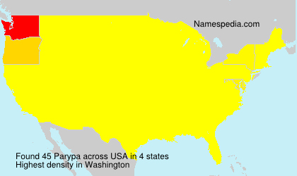 Surname Parypa in USA