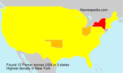 Surname Parzer in USA