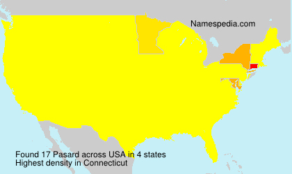 Surname Pasard in USA