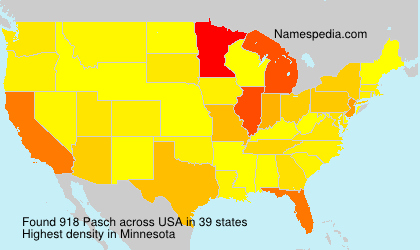 Surname Pasch in USA