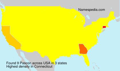 Surname Pascon in USA