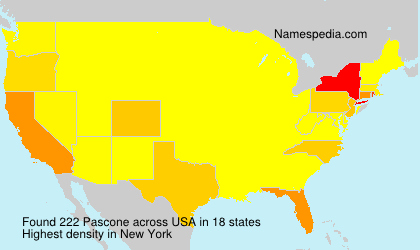 Surname Pascone in USA
