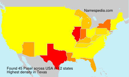 Surname Pasel in USA