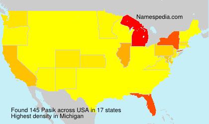 Familiennamen Pasik - USA