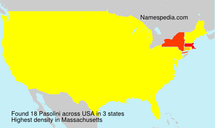 Surname Pasolini in USA