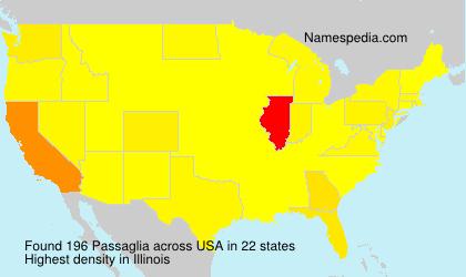 Surname Passaglia in USA