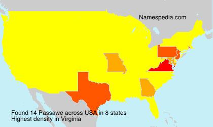 Surname Passawe in USA