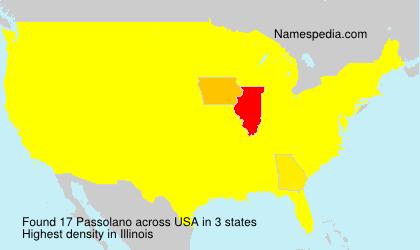 Familiennamen Passolano - USA