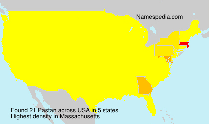 Surname Pastan in USA