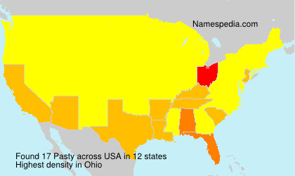 Surname Pasty in USA