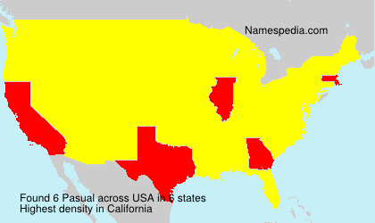 Surname Pasual in USA