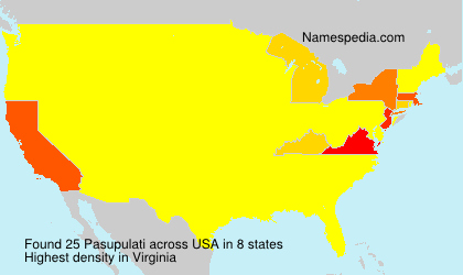 Surname Pasupulati in USA