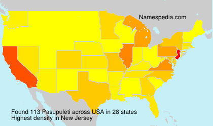 Surname Pasupuleti in USA
