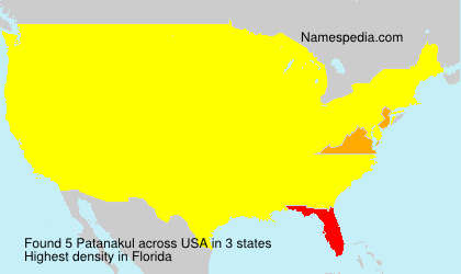 Surname Patanakul in USA