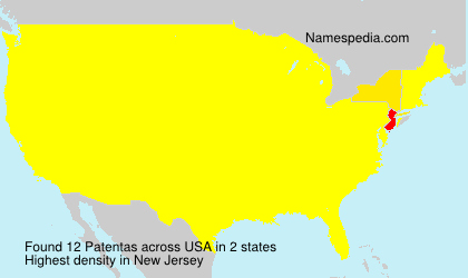 Surname Patentas in USA