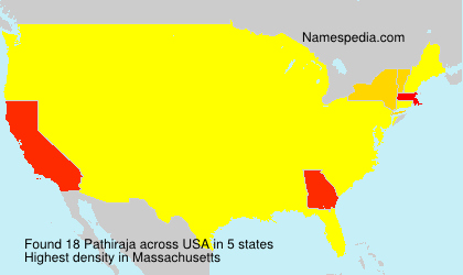 Surname Pathiraja in USA
