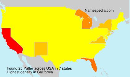 Surname Patler in USA