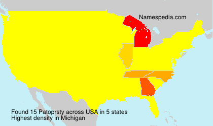 Surname Patoprsty in USA