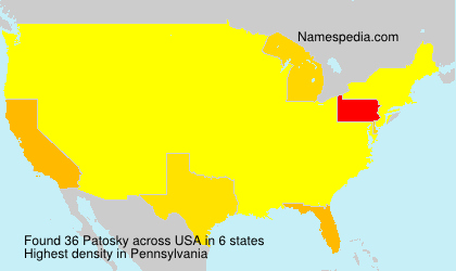 Surname Patosky in USA