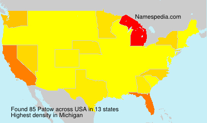 Surname Patow in USA