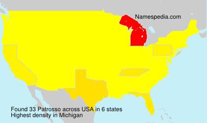 Surname Patrosso in USA
