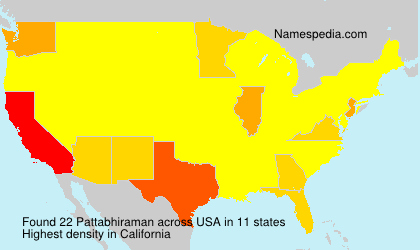 Surname Pattabhiraman in USA