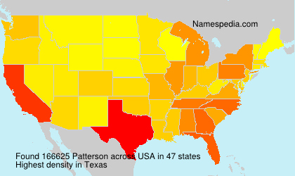 Surname Patterson in USA
