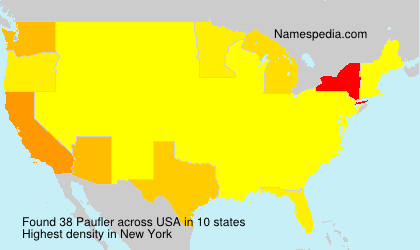 Familiennamen Paufler - USA