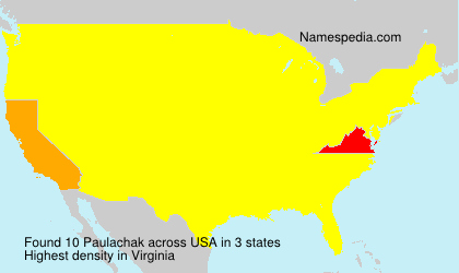 Surname Paulachak in USA