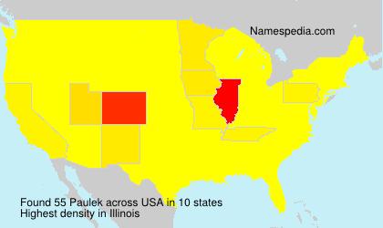 Familiennamen Paulek - USA