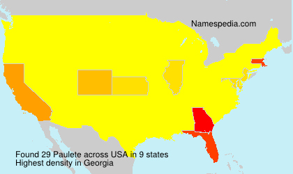 Surname Paulete in USA