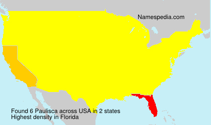 Surname Paulisca in USA