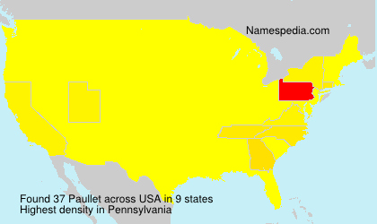Surname Paullet in USA