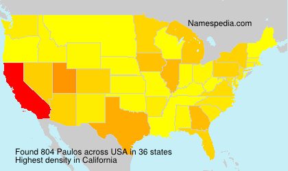 Surname Paulos in USA
