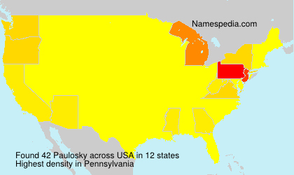 Surname Paulosky in USA