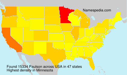 Surname Paulson in USA