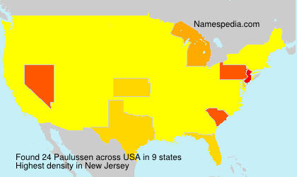 Familiennamen Paulussen - USA