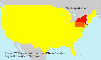 Familiennamen Pauperowicz - USA